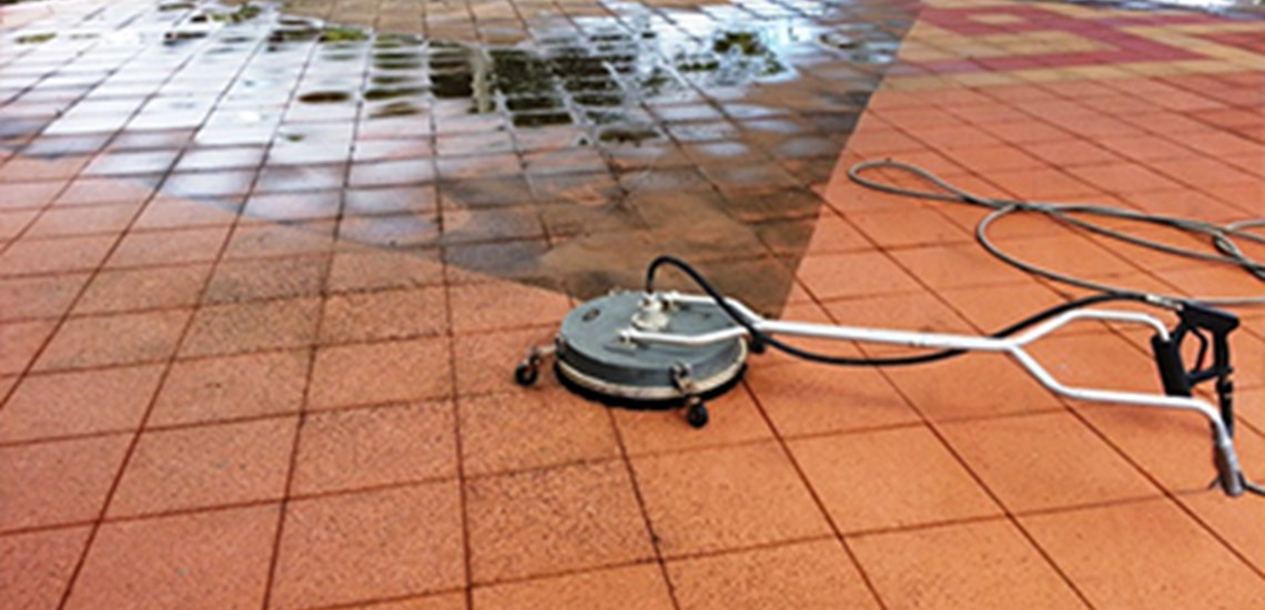 Commercial paver cleaning of a Bundaberg beer garden