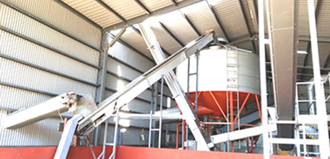 Cleaning  manufacturing facilities at a Macadamia processing shed