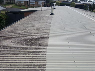 Colorbond roof cleaning