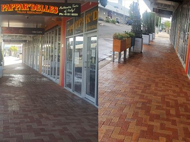 Pavement cleaning for Bundaberg food outlets