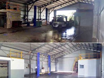 Commercial Shed Internal Clean