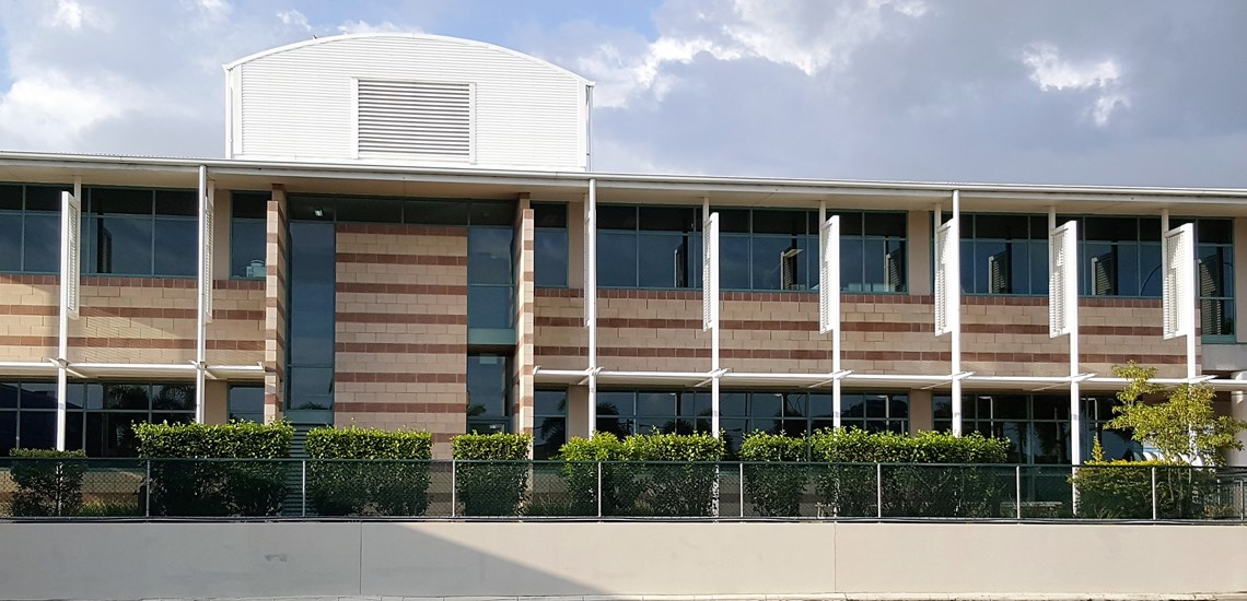 A commercial building cleaned in Hervey Bay.