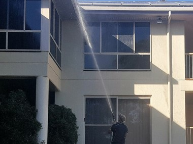 External house cleaning of a larger house in Bundaberg