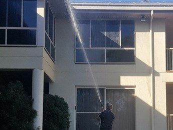 House washing using our soft wash system