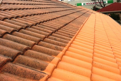 cement tile roof cleaning
